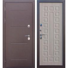 Дверь металл.ISOTERMA Медь антик 11см.Листв.мокко(860Л) Левая