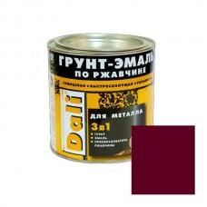 Грунт-эмаль по ржавчине 3 в 1 винно-красный (0,75л) DALI