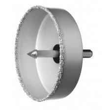 Коронка чаша ЗУБР 102 мм высота 25 мм, в сборе с держ и сверл. (33360-102)