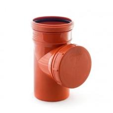 Ревизия канализационная(рыжая) ф110