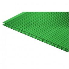 Сотовый поликарбонат 4мм Зеленый(6000х2100 N)