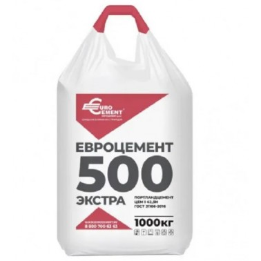 Цемент-М 500 ЦЕМ-I 42,5 Н евроцемент (1т)