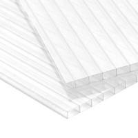 Сотовый поликарбонат 4мм прозрач(6000х2100 Кристалл)15лет вес 0,5кг/м2