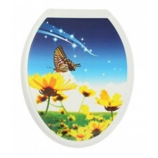 """Сиденье для унитаза пластм.""""Универсал Декор""""Бабочка на траве(40601)"""