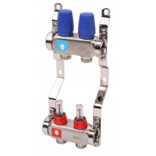 Коллектор MVI из нержавеющей стали в сборе с расходомерами 2 вых.(1/4)