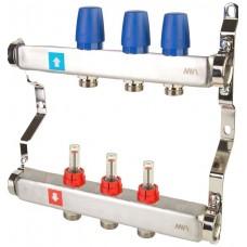 Коллектор MVI из нержавеющей стали в сборе с расходомерами 3 вых.(1/4)