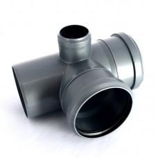 Крест канализационный(серый) 110х110х50/87 1-плоск (25471)