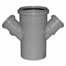 Крест канализационный(серый) 110х50х50/135