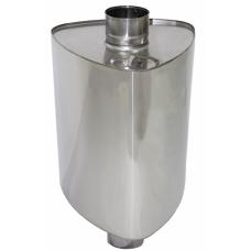 Бак на трубе для печи 50л,ф115 AISI 439/0,8мм(штуцер 3/4)