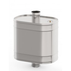 Бак на трубе для печи 70л, ф115,AISI 439/0,8мм(штуцер 3/4)