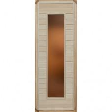 Дверь Банная глухая№17 остекленная (липа) 1900*700