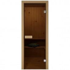Дверь Банная стекл. бронза,коробка хвоя 1900х700 (6мм,2 петли)