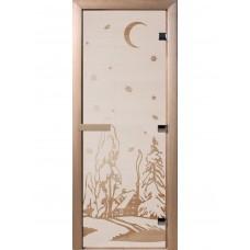 Дверь Банная стеклянная Зима 1900х700 (6мм)