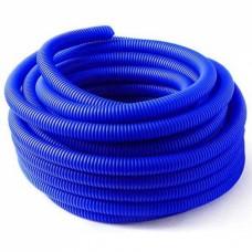 Кожух гофрированный 16 (диаметр 25) синий