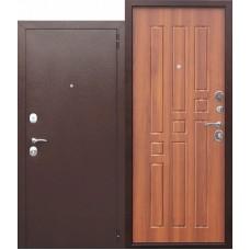 Дверь металл.Гарда 8мм. Рустикальный дуб(960Л) Левая