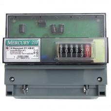 Счетчик электр. Меркурий 231 АМ-01 трехфазн. однотарифн. 5(60)А (32430)
