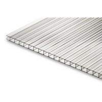 Сотовый поликарбонат 4мм прозрач(6000х2100) Кристалл плотн.0,5мм