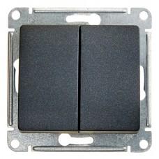 Выключатель двухклав.в рамку антрацит GLOSSA (8061486)