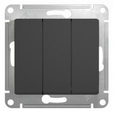 Выключатель трехклав.в рамку антрацит GLOSSA (9215821)