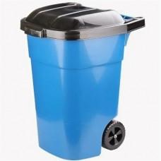 Бак мусорный 65л универс. на колесах синий(Альтернатива)(53060)