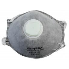 Бибер Полумаска фильтрующая с угольным фильтром и воздушным клапаном (25/100)