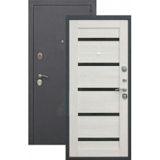 Дверь металл.Гарда муар Лиственица мокко Царга (960П) Правая