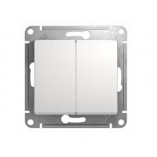 Выключатель двухклав.в рамку белый GLOSSA (9517386)