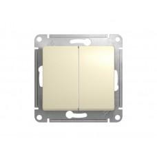 Выключатель двухклав.в рамку бежевый GLOSSA (2918886)