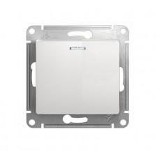 Выключатель одноклав. в рамку белый GLOSSA (3225665)