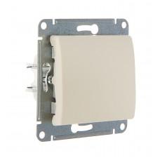 Выключатель одноклав. в рамку бежевый GLOSSA (7171168)