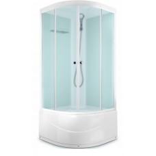 Душ кабина DOMANI-Spa Dilight 99(90*90*218см) светлые стенки,стекло прозрачное высокий поддон,АКРИЛ (66909)