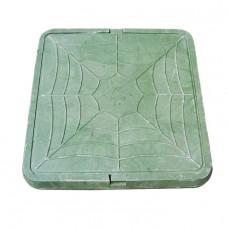 Люк садовый полимерпесчаный 460*460 (0,7т) зеленый квадратный (2101048)