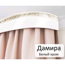 Карниз потолочный Дамира 50мм Белый хром 1,6м