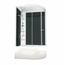 Душ кабина DOMANI-Spa Dilight 128L черн стенки,тонир.ст.,с/эл.,выс/поддон(DS01D128LHBT10)()