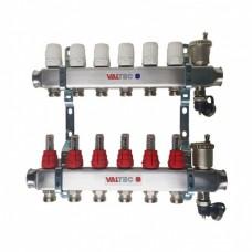Коллектор.группа из нерж(авт.воздух.+расходом.+термостат.клап.) 6 вых.(OKGSET06A)