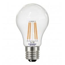 Лампа светодиодная LED 10 Вт филамент Е27 2700К General (486999)