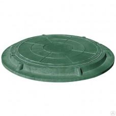 Люк садовый канализационный (1,5т) зеленый круглый (61658)