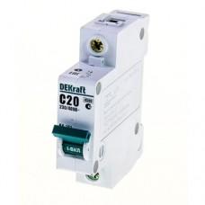 Выключатель автоматический DEKraft 1P-20A(9810732)