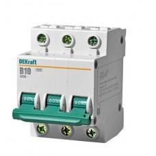 Выключатель автоматический DEKraft 3P-10A(9810754)