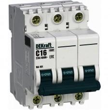 Выключатель автоматический DEKraft 3P-16A(9810755)