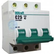 Выключатель автоматический DEKraft 3P-25A(9810757)