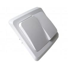 Выключатель двухклав. скрытый белый Этюд (9723055)