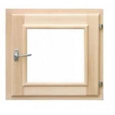 Оконный блок 600*600 прозрачное (липа)