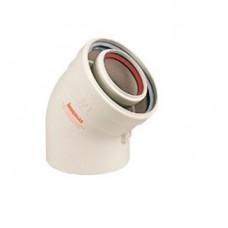 Отвод котловой коаксиальный 60/100 (Immergas) (К-03I)