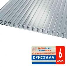 Сотовый поликарбонат 10мм Прозрач(6000х2100)Карбоглас