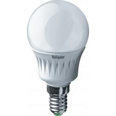 Лампа светодиодная LED  5 Вт Е14 Navigator белый шар(94478 NLL-P-G45)