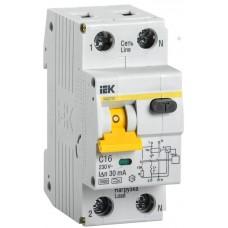Выключатель автом. дифференц. IEK 1П+N 16A (MAD22-5-016-C-30)