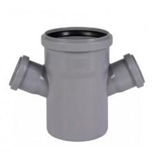 Крест канализационный(серый) 110х50х50/87 2-плоск