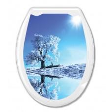 """Сиденье для унитаза пластм.""""Универсал Декор""""Белое дерево (39162)"""