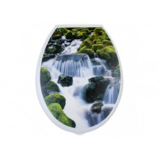 """Сиденье для унитаза пластм.""""Универсал Декор""""Водопад (41629)"""